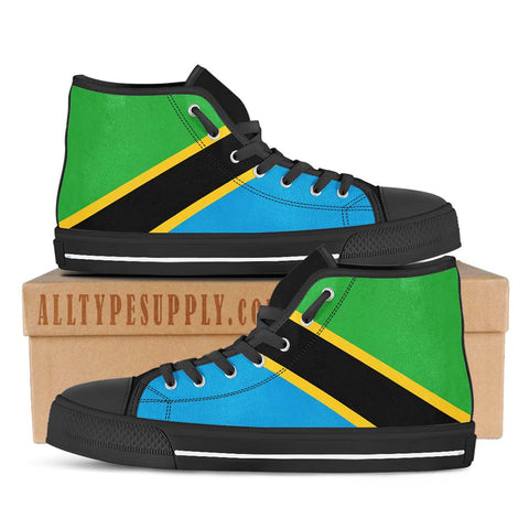 Tanzania National Flag - High & Low Top Canvas Shoes