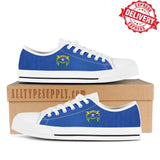 Nevada State Flag - High & Low Top Canvas Shoes - EXPRESS DELIVERY!