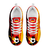 Germany National Flag [Soccer Paint Brush] - Running Sneakers