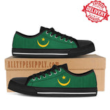 Mauritania National Flag - High & Low Top Canvas Shoes - EXPRESS DELIVERY!