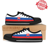 Slovakia National Flag - High & Low Top Canvas Shoes - EXPRESS DELIVERY!