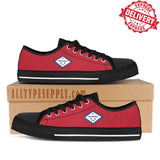 Arkansas State Flag - High & Low Top Canvas Shoes - EXPRESS DELIVERY!