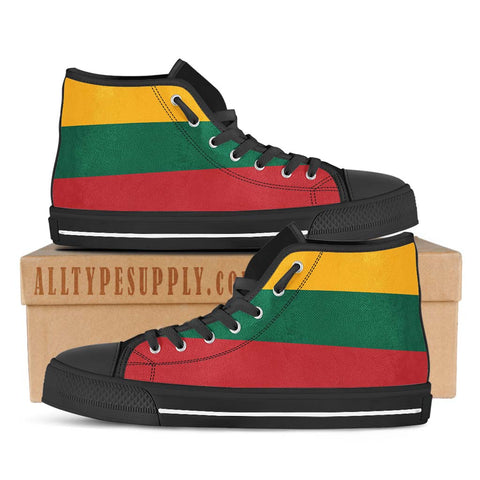 Lithuania National Flag - High & Low Top Canvas Shoes