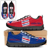 Costa Rica National Flag [Soccer Paint Brush] - Running Sneakers