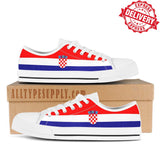 Croatia National Flag - High & Low Top Canvas Shoes - EXPRESS DELIVERY!