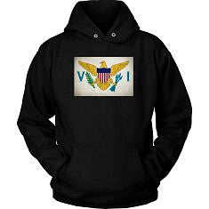 Virgin Islands Flag - Black Hoodie