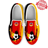 Germany National Flag [Soccer Paint Brush] - Canvas Slip-On Shoes - EXPRESS DELIVERY!