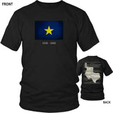 Republic of Texas Burnet Flag and Constitution - Black T-Shirt