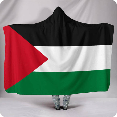 Palestine National Flag - Hooded Blanket