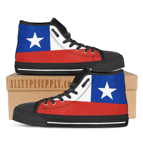 Chile National Flag - High & Low Top Canvas Shoes