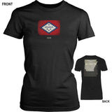 Arkansas State Flag and Constitution - Black T-Shirt