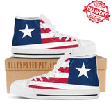 Liberia National Flag - High & Low Top Canvas Shoes - EXPRESS DELIVERY!