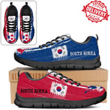 South Korea National Flag [Soccer Paint Brush] - Running Sneakers - EXPRESS DELIVERY!