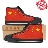 China National Flag - High & Low Top Canvas Shoes - EXPRESS DELIVERY!
