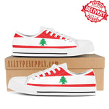 Lebanon National Flag - High & Low Top Canvas Shoes - EXPRESS DELIVERY!