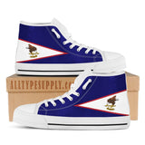 American Samoa Flag - High & Low Top Canvas Shoes