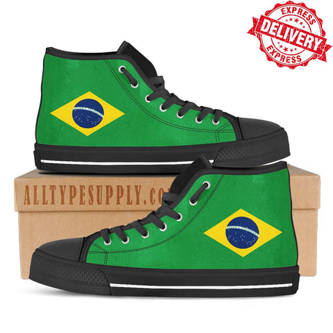 Brazil National Flag - High & Low Top Canvas Shoes - EXPRESS DELIVERY!