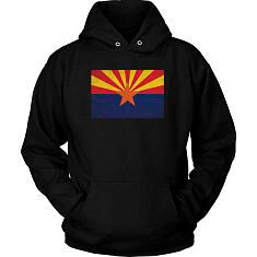 Arizona State Flag - Black Hoodie