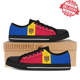 Moldova National Flag - High & Low Top Canvas Shoes - EXPRESS DELIVERY!
