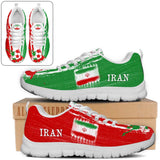 Iran National Flag [Soccer Paint Brush] - Running Sneakers