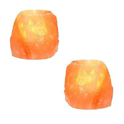 Himalayan Crystal Rock Salt Candle Tea Light Holder - Klass Home