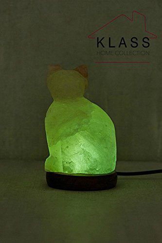 Cat shaped Colour Changing LED Salt Lamp - Klass Home