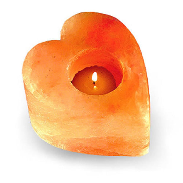 Heart Shaped Salt Tea light - Klass Home