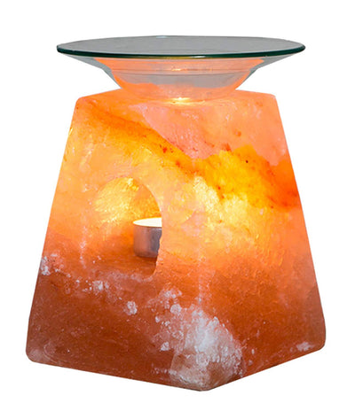 Pyramid Shaped Himalayan Salt Oil Burner - Klass Home