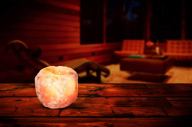 Natural Salt Crystal Tea Light - Klass Home