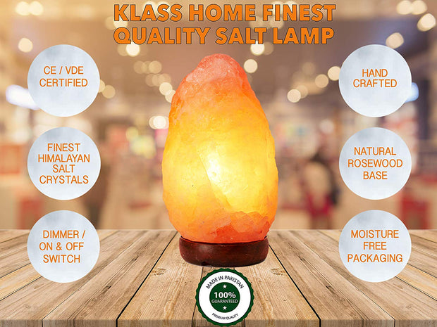 Small Natural Salt Rock Lamp 1-2kg - Klass Home