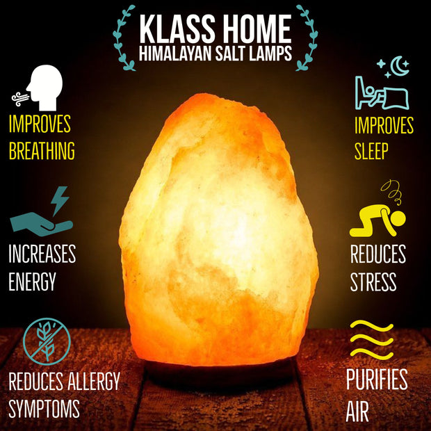 4-6 KG Large Himalayan Natural Salt Lamp - Klass Home