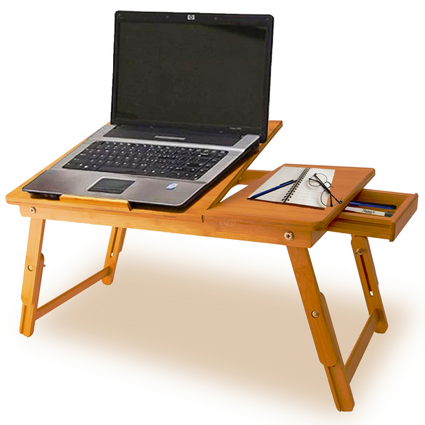 Adjustable Natural Bamboo Wooden Lap Desk