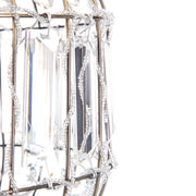 Moroccan Style K9 Crystal Drop Pendant For Ceiling (Antique/Clear)