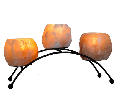 Himalayan Salt Arc Shaped Candle Holder - Klass Home