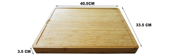 Large Bamboo Wodden Chopping Board with PP Mats - Klass Home