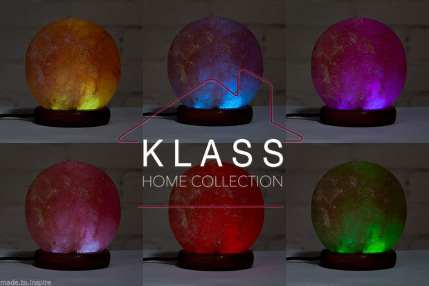 Sphere shaped Colour Changing LED Salt Lamp - Klass Home