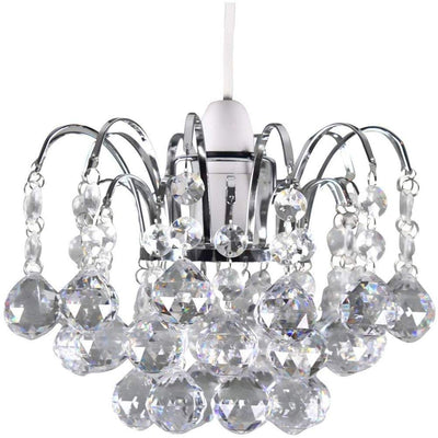 K9 Crystals Faceted Oriel Pendant Light Shade Clear Crystal Drop