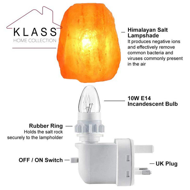 Himalayan Salt Plug-In Night Light - Klass Home