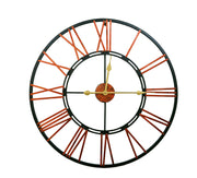 Vintage Skeleton Clock- Black and Rosegold - Klass Home