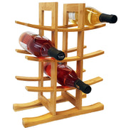 100% Natural Bamboo Wine Rack Free Standing - Klass Home