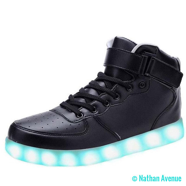 Men's Tactical USB Charging LED High Top Shoes