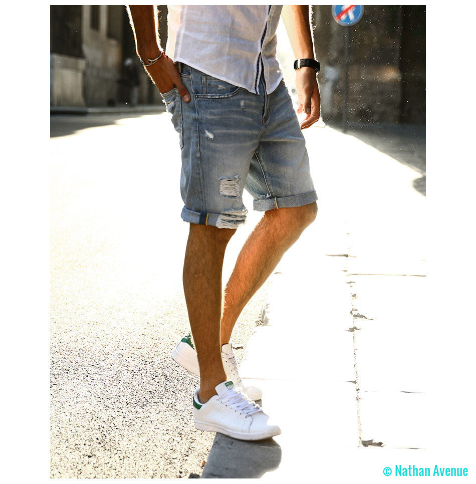 2017 Summer New Casual Denim Shorts  100% Pure Cotton