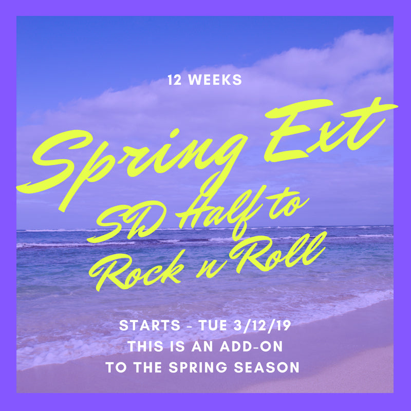 Extended - SD Half to Rock N Roll 2019 (12 Weeks)