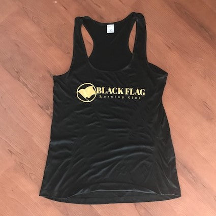 Women's Racerback Black Flag Running Club Team Shirt