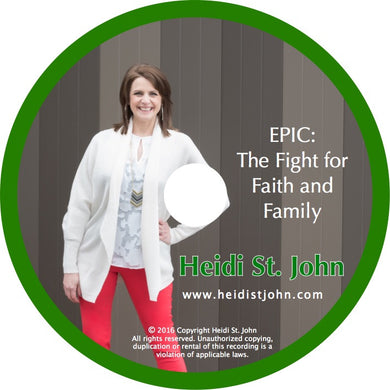 EPIC - The Fight For Family And Faith - Workshop Recording