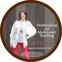 Notebooking And Multi Level Teaching - Workshop Recording