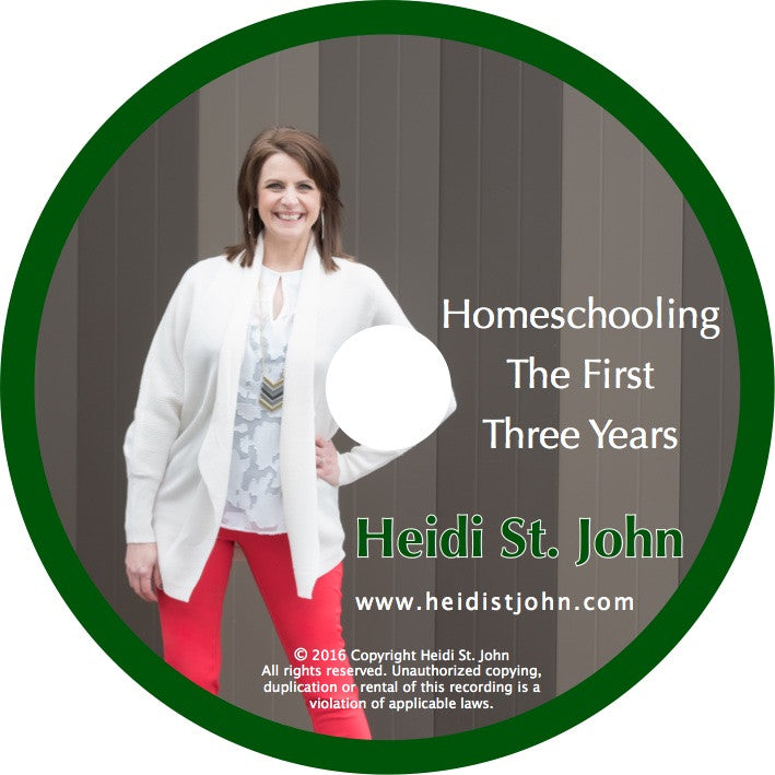 Homeschooling the First Three Years - Workshop Recording