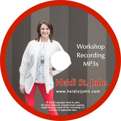 All 25 MP3s Heidi's Workshop Recordings on Data CD