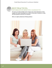 Homeschool Co-op Leaders Handbook - PDF