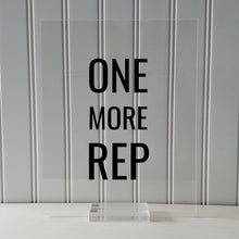 ONE MORE REP - Floating Quote - Workout Gym Decor Exercise Weightlifting Training Motivation Working Out Lifting Weights Bodybuilding Grind